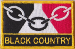 Black Country Embroidered Flag Patch, style 09.